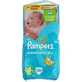Πάνες PAMPERS active baby-dry No.4, 8-14kg (58τεμ.)
