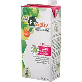Ρόφημα γάλακτος BECEL pro activ με βιταμίνη D3, 40% ασβέστιο και 1,8% λιπαρά (1lt)