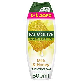 Αφρόλουτρο PALMOLIVE Naturals μέλι και γάλα 1+1 ΔΩΡΟ (2x500ml)