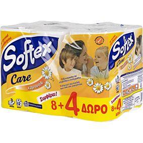 Χαρτί υγείας SOFTEX Care χαμομήλι (12τεμ.)