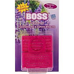 Σκοροαπωθητικό BOSS κρεμαστό λεβάντας 3+1 ΔΩΡΟ (4τεμ.)