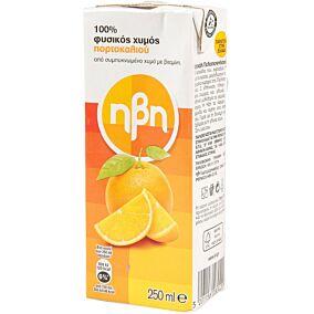 100% Φυσικός χυμός ΗΒΗ πορτοκάλι (250ml)