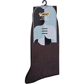 Κάλτσες BIC San Remo ανδρικές καφέ No.11