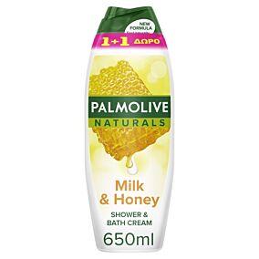 Αφρόλουτρο PALMOLIVE Unisex μέλι και γάλα 1+1ΔΩΡΟ (2X650ml)
