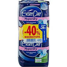 Σερβιέτες EVERYDAY Hyperdry Super Ultra Plus -40% (26τεμ.)