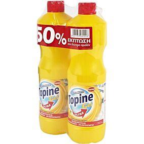 Χλωρίνη TOPINE με άρωμα λεμόνι σε gel (2x750ml)