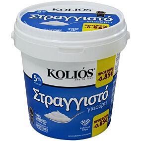 Γιαούρτι KOLIOS στραγγιστό -0,85€ (850g)