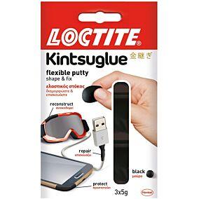 Στόκος LOCTITE Kintsu ελαστικός μαύρος, 3 δόσεις των 5 γραμμαρίων