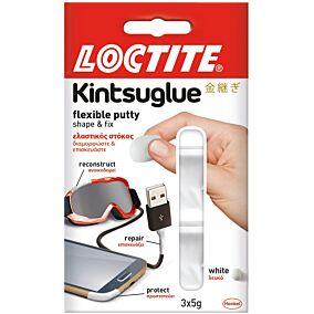Στόκος LOCTITE Kintsu ελαστικός άσπρος, 3 δόσεις των 5 γραμμαρίων