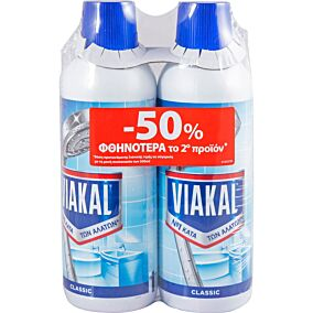 Καθαριστικό μπάνιου VIAKAL (2x500ml)