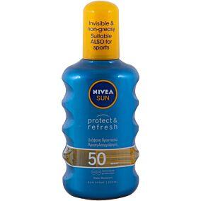 Αντηλιακό NIVEA protect & refresh invisible SPF 50 σε σπρέι (200ml)