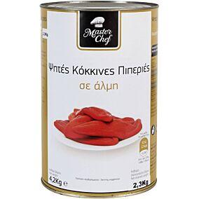 Πιπεριές MASTER CHEF κόκκινες ψητές (2,3kg)