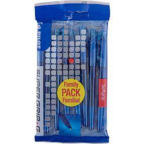 Στυλό διαρκείας PILOT super grip g 0.7 μπλε (8τεμ.)
