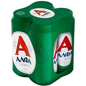 Μπύρα ΑΛΦΑ (4x500ml)
