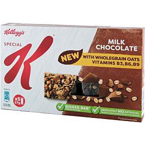 Μπάρα δημητριακών KELLOGG'S special K με σοκολάτα γάλακτος (5x27g)