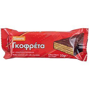 Γκοφρέτα BONORA με σοκολάτα γάλακτος (33g)