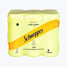 Αναψυκτικό SCHWEPPES λεμόνι (6x330ml)