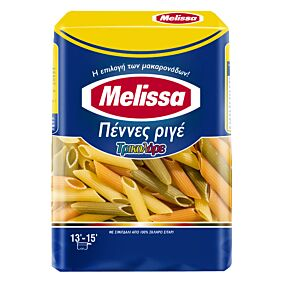 Πάστα ζυμαρικών MELISSA τρικολόρε ριγέ (500g)