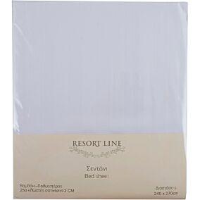 Σεντόνι RESORT LINE 48% βαμβακερό, 52% πολυεστέρα λευκό 240x270cm