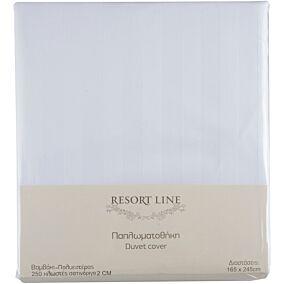Παπλωματοθήκη RESORT LINE 48% βαμβακερή, 52% πολυεστέρα, λευκή 165x245cm
