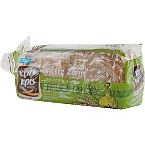Ψωμί ΚΡΙΣ ΚΡΙΣ φέτες ζωής τοστ ολικής άλεσης -0,30 € (500g)