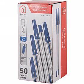 Στυλό διαρκείας STAMPA 0.7 μπλε (50τεμ.)
