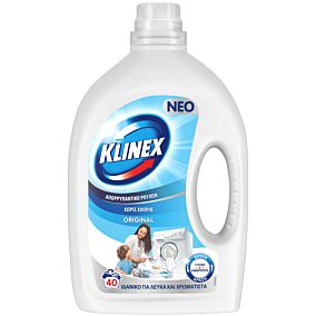 Απορρυπαντικό KLINEX original πλυντηρίου ρούχων, υγρό (40μεζ.)