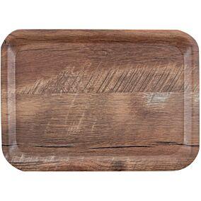 Δίσκος σερβιρίσματος HENDI μελαμίνης brown oak 24x35cm