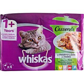 Τροφή WHISKAS γάτας σε ζελέ mixed (4x85g)