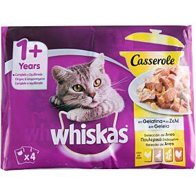 Τροφή WHISKAS γάτας σε ζελέ πουλερικά (4x85g)