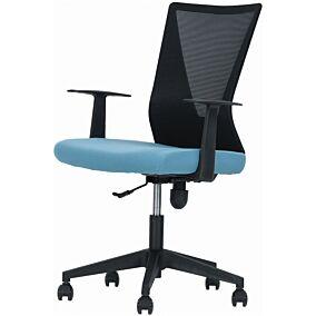 Καρέκλα γραφείου μαύρη-οινοπνευματί