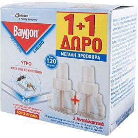 Αντικουνουπικό BAYGON υγρό 1+1 ΔΩΡΟ (36ml)