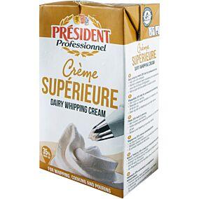 Κρέμα γάλακτος PRESIDENT 35% λιπαρά (1lt)