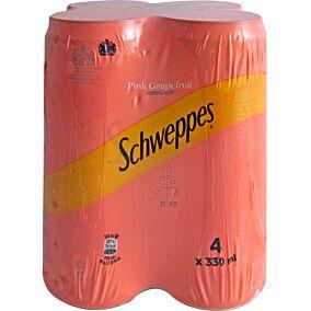 Αναψυκτικό SCHWEPPES σόδα pink grapefruit (4x330ml)