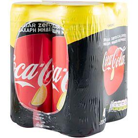 Αναψυκτικό COCA COLA Zero με λεμόνι (4x330ml)
