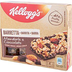 Μπάρες δημητριακών KELLOGG'S με σοκολάτα και αμύγδαλα (4x32g)