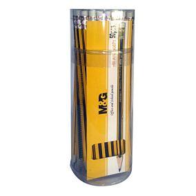 Μολύβι εξαγωνικό με γόμα tube (50τεμ.)