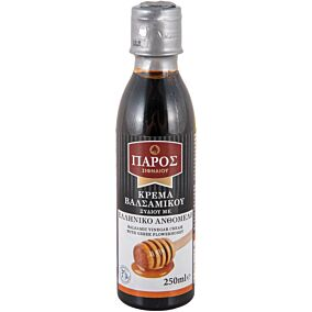 Ξύδι ΠΑΡΟΣ βαλσάμικο κρέμα με μέλι (250ml)