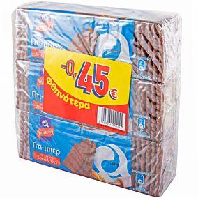 Μπισκότα ΑΛΛΑΤΙΝΗ ΠΤΙ ΜΠΕΡ με σοκολάτα (3x225g)