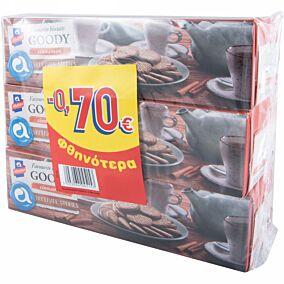Μπισκότα ΑΛΛΑΤΙΝΗ Goody με κανέλα -0,70€ (3x185g)
