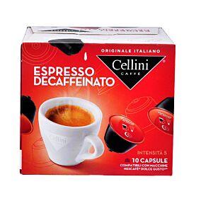 Καφές CELLINI Dolce gusto espresso decaffeinato σε κάψουλες 10τεμ. (75g)