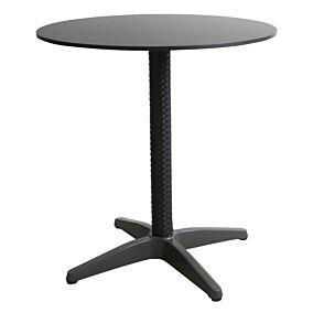 Τραπέζι RESORT LINE αλουμινίου με πόδια rattan 70x74 μαύρο