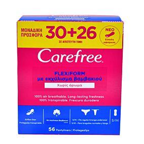 Σερβιέτες CAREFREE flexiform 30+26 ΔΩΡΟ (56τεμ.)