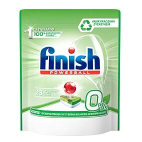Απορρυπαντικό FINISH all in 1 0% πλυντηρίου πιάτων σε κάψουλες (23τεμ.)