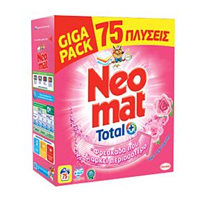Απορρυπαντικό NEOMAT άνθη τριανταφυλλιάς πλυντηρίου ρούχων, σε σκόνη (75μεζ.)