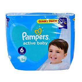Πάνες PAMPERS Active baby No.6 giant (56τεμ.)