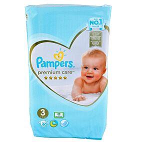 Πάνες PAMPERS premium care No.3 Jumbo (60τεμ.)