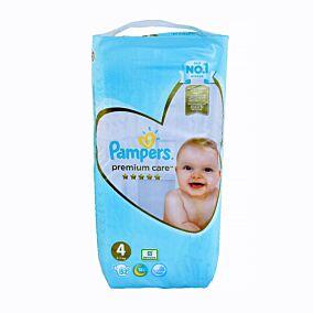 Πάνες PAMPERS premium care No.4 Jumbo (52τεμ.)