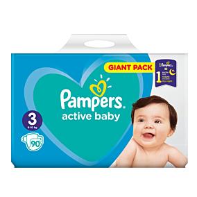 Πάνες PAMPERS Active Baby Giant No.3 (90τεμ.)