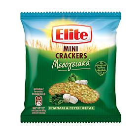 Κράκερ ELITE mini σπανάκι & φέτα (50g)
